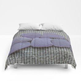 Dark Purple Sea Glass Comforters