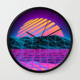 Vaporwave Sunset Wall Clock