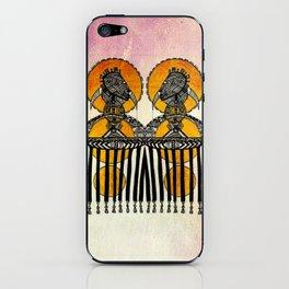 AFRO YELLOW SUN iPhone Skin