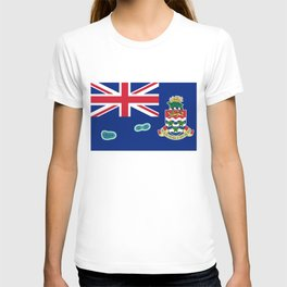 Cayman Islands Flag with Map of the Cayman Islands T-shirt