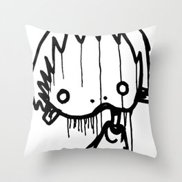 Parskid Mop Tag I Throw Pillow