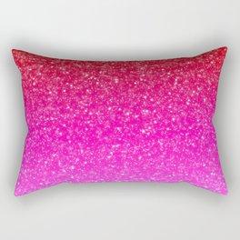 Red/Pink Glitter Gradient Rectangular Pillow