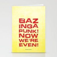 bazinga Stationery Cards featuring Bazinga! by Cloz000