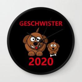 Lustiger Spruch - Bruder oder Schwester 2020 Baby Nachwuchs Wall Clock