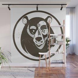 Benk Brown Grunge Wall Mural