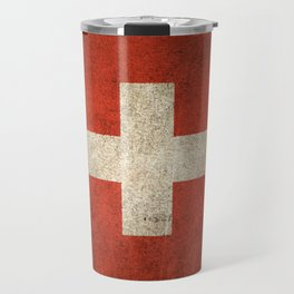 Old and Worn Distressed Vintage Flag of Switzerland Travel Mug