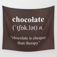 chocolate Wall Tapestries featuring Chocolate by cafelab
