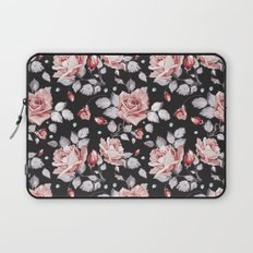 Vintage Pink Rose Flowers Laptop Sleeve