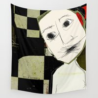 et Wall Tapestries featuring « sourd et muet » by linda vachon