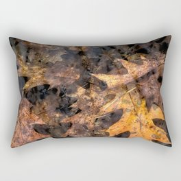 Leaves in a Rock Pool Square Rectangular Pillow