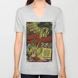 House of Horrors, vintage horror movie poster Unisex V-Neck