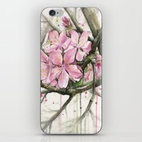 cherry blossom iPhone & iPod Skins featuring Cherry Blossom by Olechka