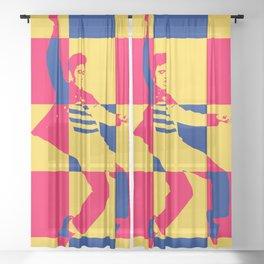 Jailhouse Rock Sheer Curtain