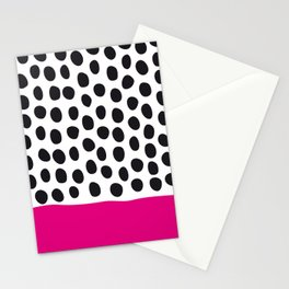 Modern Handpainted Polka Dots with Pink Stationery Cards