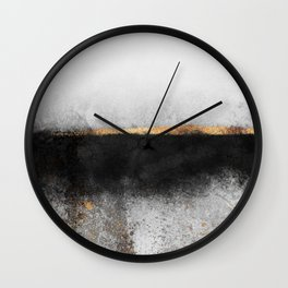 Soot And Gold Wall Clock