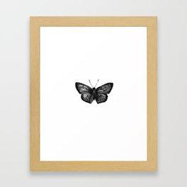 Minimalista borboleta 1 Framed Art Print