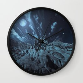 Blue Madness Wall Clock