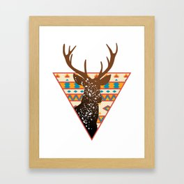 Geometric Buck Framed Art Print