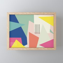 Shapes and Waves Framed Mini Art Print