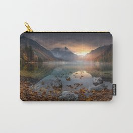 Langbathsee mountain lake autumn evening sunset mountain landscape forest Upper Austria Austria Carry-All Pouch