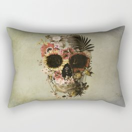 Garden Skull Light Rectangular Pillow