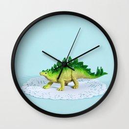 Doily Stegosaurus Wall Clock