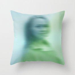 Blurry face Throw Pillow