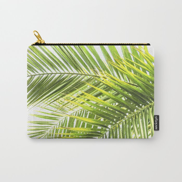 Palm leaves tropical illustration Carry-All Pouch