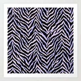 Zebra fur texture print II Art Print