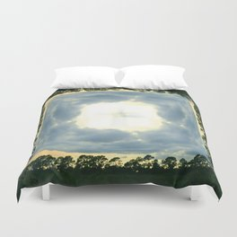 crack in the sky Duvet Cover