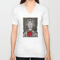 metropolis V-neck T-shirts featuring METROPOLIS by Alberto Corradi