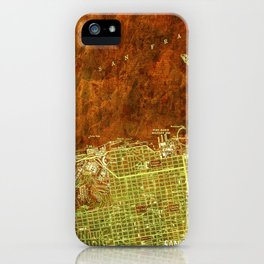 San Francisco North, California vintage map, year 1947,usa old maps iPhone Case
