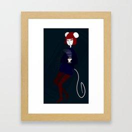 Chill Mouse Framed Art Print