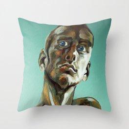 Glass eyes Throw Pillow