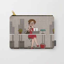 Sixties Secretary with a Typewriter Carry-All Pouch