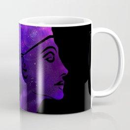 Queen Nefertiti Nebula Dark Stardust Coffee Mug
