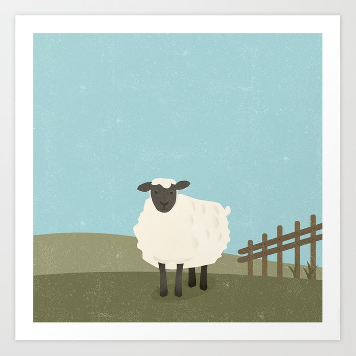 S is for Sheep Art Print