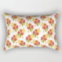 Fall Dahlia - Orange and Yellow Rectangular Pillow