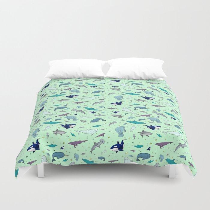 Sea Animals Duvet Cover