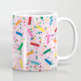 Rainbow Sprinkles on Strawberry Ice Cream Coffee Mug