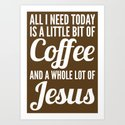 COFFEE AND JESUS (White Art) by creativeangel