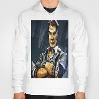 borderlands Hoodies featuring Borderlands Handsome Jack by Joe Misrasi