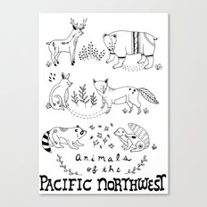 Animals of the Pacific Northwest Canvas Print