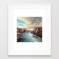 venice Framed Art Prints featuring Venice by MehrFarbeimLeben