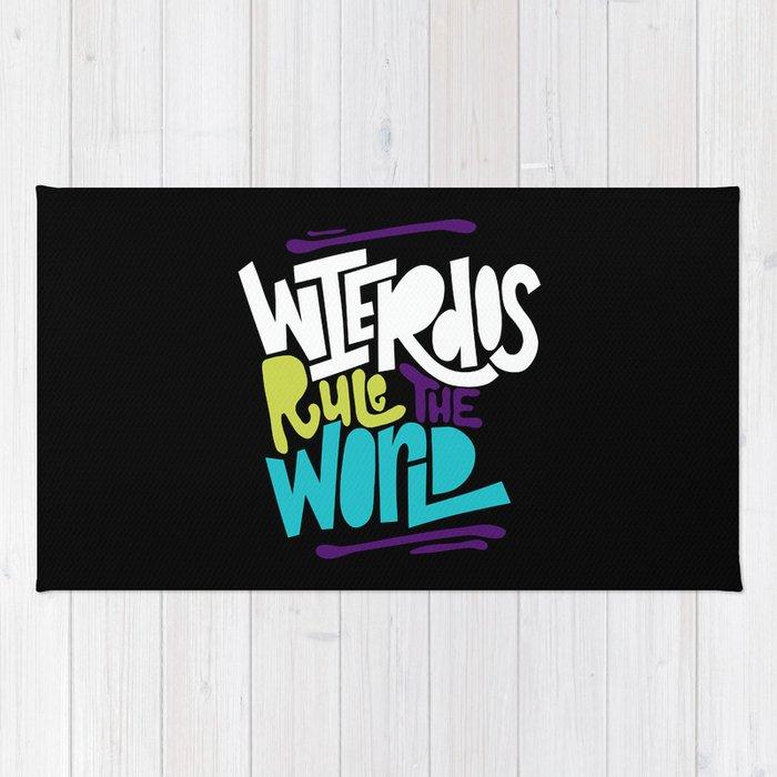 Weirdos Rule the World Rug