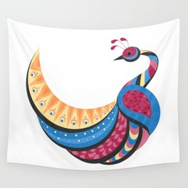 Pretty Peacock Bird Decor Wall Tapestry