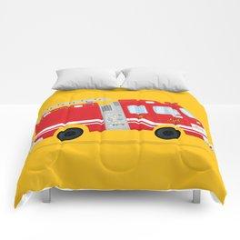 Cute Firetruck Comforters