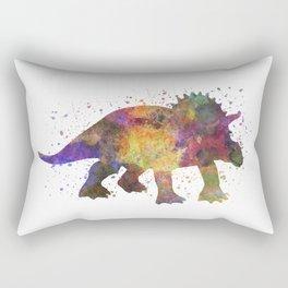 Triceratops dinosaur in watercolor Rectangular Pillow