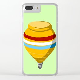 Yellow Top Clear iPhone Case