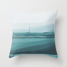 green and blue pattern abstract background Throw Pillow